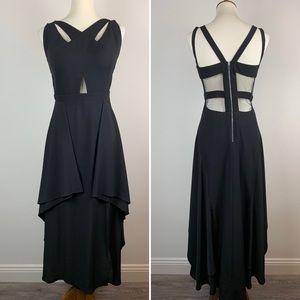 GORGEOUS Jovani Black Formal Gown Mesh Cutouts 8